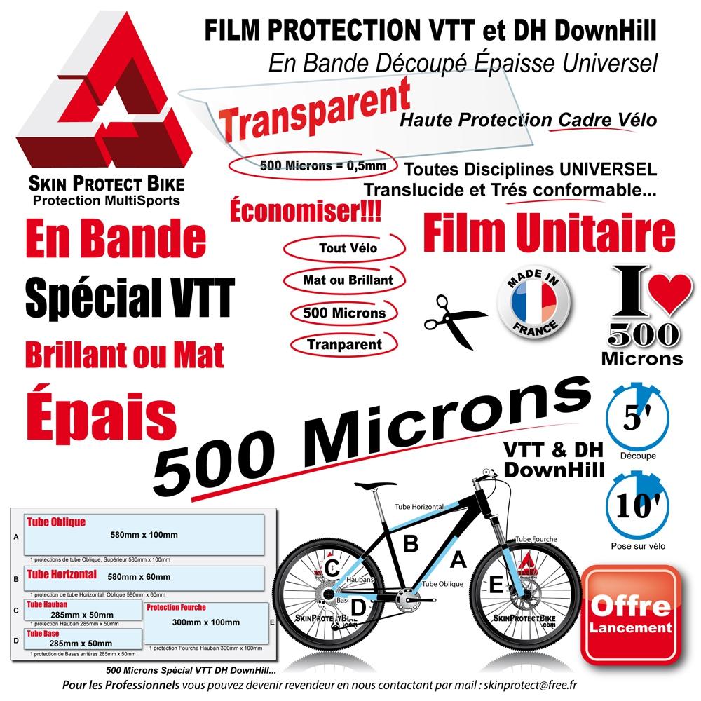 later fresh styles cheap for sale Film Protection cadre VTT 500 Microns Universel Bande Découpé