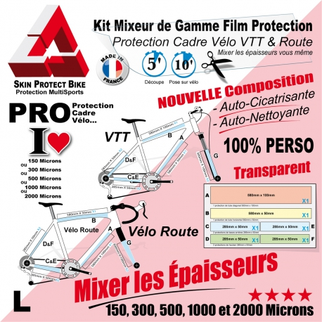 protection cadre v 233 lo vtt et route mixeur de gamme personnalisable l