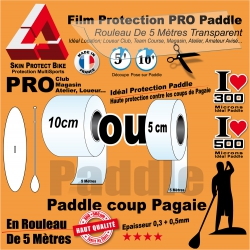Rouleau Film Bande Protection Paddle Transparent 300 et 500 Microns