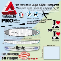 Protection Proue Kayak  Coque Transparente Film Protection Coque