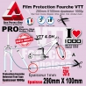 Film Protection Fourche VTT PRO en Plaque 1000µ