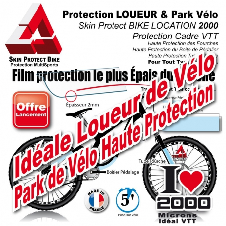 Location Vélo Film Protection 2000 microns épais en Bande rhino