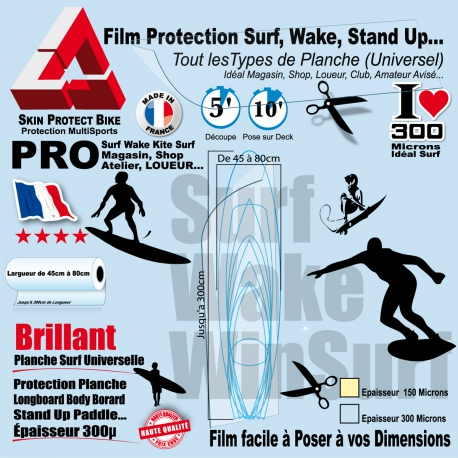Film Protection Surf  Wake Powerkite Stand Up WinSurf Universel