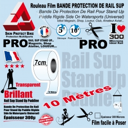 Rouleau Film Bande Protection de Rail Sup Saver Paddle PRO 10 mètres