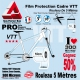 Rouleau Film Protection cadre VTT 300 Microns 10cm en rouleau PRO Mat ou Brillant