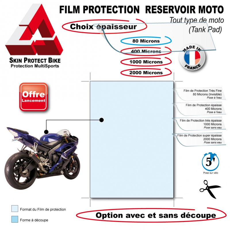 film de protection r servoir moto tank pad. Black Bedroom Furniture Sets. Home Design Ideas