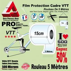Rouleau Film Protection cadre VTT 500 Microns 15cm en rouleau PRO Brillant