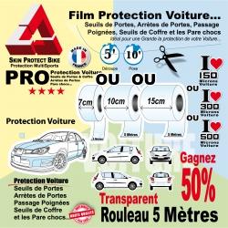 Rouleau Film Protection Transparent Seuil et Arrète de Porte Voiture