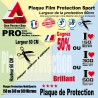 Plaque Film protection 60cm 150µ 300µ ou 500µ microns VTT Universel