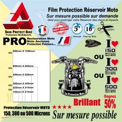 Film de Protection Réservoir Moto Tank Pad Protection chocs et impacts