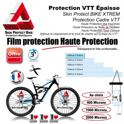 Film Protection VTT épaisse au choix en Bande peau rhinocéros