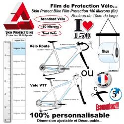 Film de Protection Vélo unitaire 10cm de large économique Bande