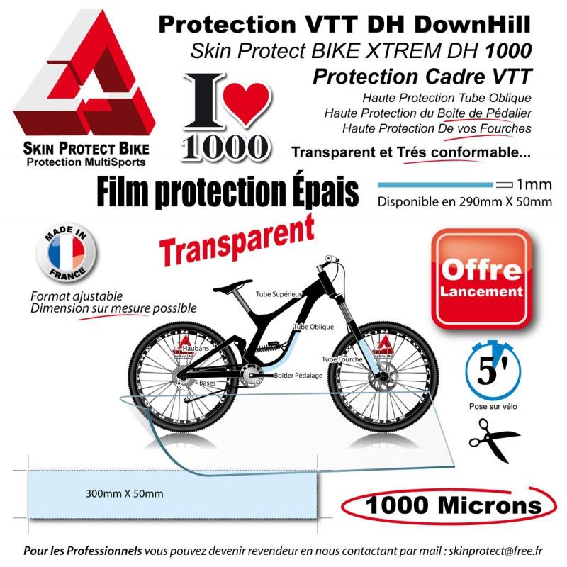 film de protection vtt 1000 microns pais en bande peau rhinoc ros. Black Bedroom Furniture Sets. Home Design Ideas
