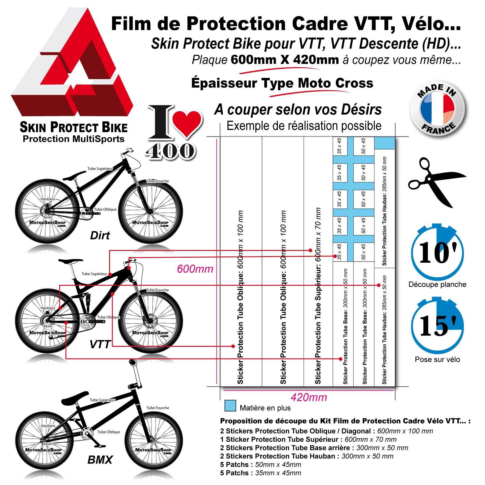 shop best sellers sells hot sale online Plaque Film de Protection cadre VTT (Type Moto Cross)