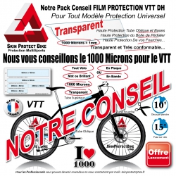 Plaque Film de Protection VTT DH Universel 1000 Microns