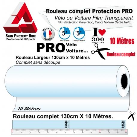 Film de Protection PRO Grand Rouleau complet 300 microns Vélo 10 Mètres