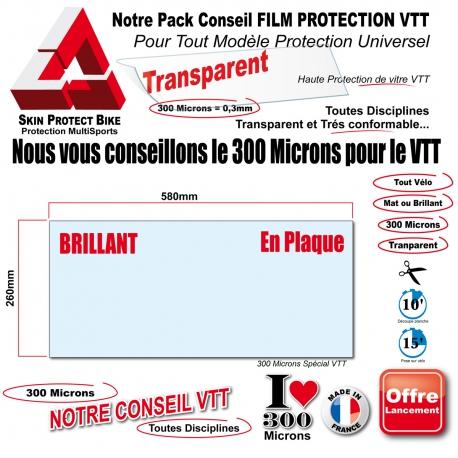 Conseil PACK Film de Protection VTT Universel 300 Microns Plaque ou Bande