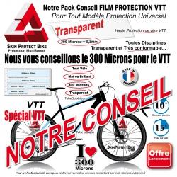 Plaque  Protection VTT Universel 300 Microns Plaque ou Bande