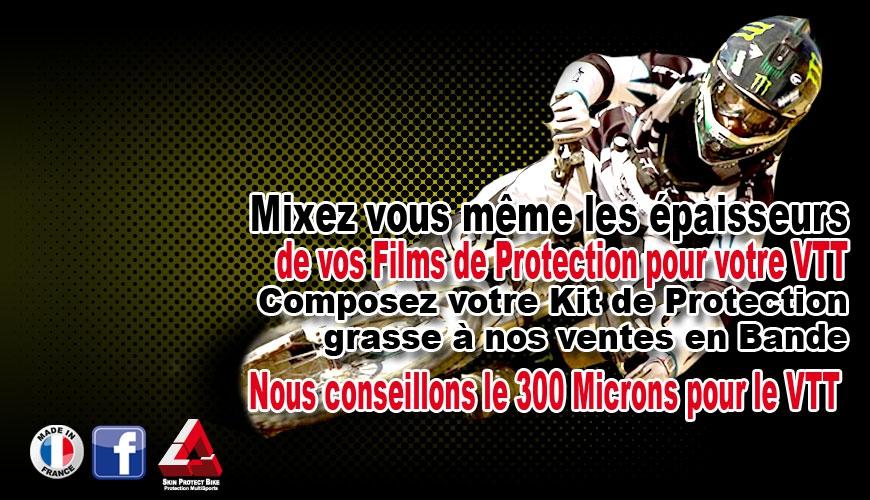Notre Conseil le 300 Microns pour le Film de Protection VTT