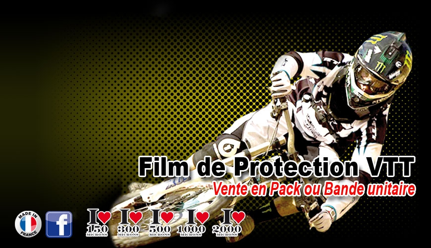 Film de Protection VTT fine ou épaisse vene unitaire possible
