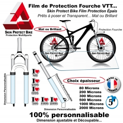 Film de Protection Fourche VTT Mat ou Brillant