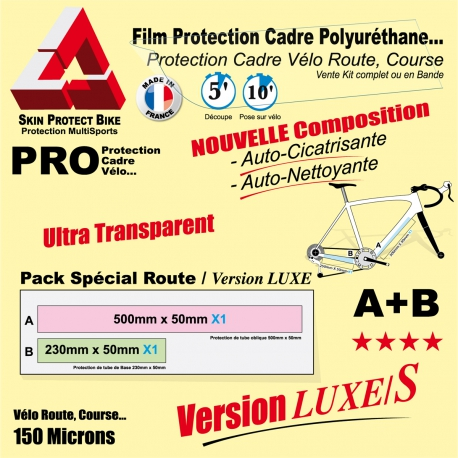 Film Protection cadre Vélo Route Polyuréthane Luxe S