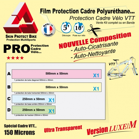Film Protection cadre VTT Polyuréthane Luxe M