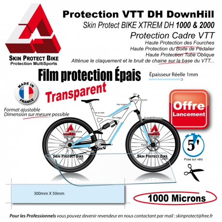 Film de Protection VTT XTREM DH cadre VTT boitier Pédalage