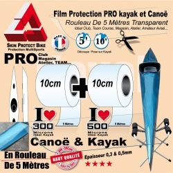 Rouleau Film Protection Kayak Transparent 300 et 500 Microns