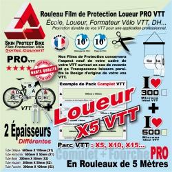Rouleau Film Protection cadre parc VTT kit complet pour Loueur Mixage épaisseur