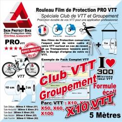 Film Protection VTT Club VTT en rouleaux Groupement