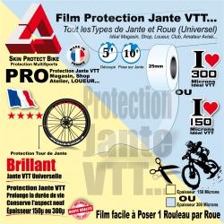 Film Protection Jante VTT en Rouleau en 150µ ou 300µ