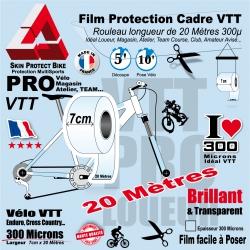 Rouleau Film Protection Cadre VTT PRO 7 cm 300 Microns en rouleau 20 mètres