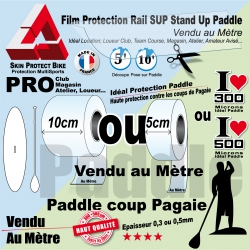 Film Bande Protection Rail SUP Saver Stand Up Paddle au mètre