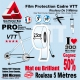 Rouleau Film Protection cadre VTT 300 Microns 2,5cm en rouleau PRO Mat ou Brillant