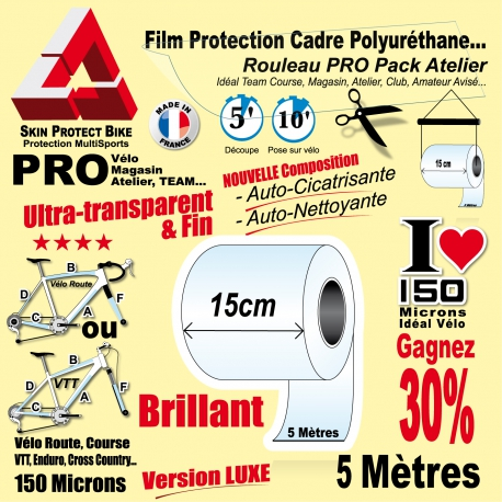 v/élo de course ou v/élo /électrique VTT Blackshell Film de protection autocollant pour cadre de v/élo par exemple BMX 24 pi/èces