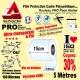 Rouleau Film Protection cadre Vélo 150 Polyuréthane 15cm Pro Atelier Mat ou Brillant