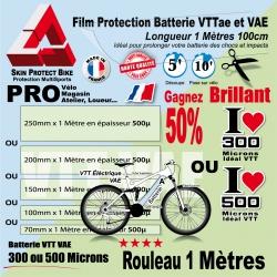 Film Protection Batterie VTTae VTT électrique Brillant VAE en 1 Mètre