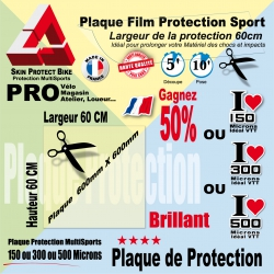 Plaque Film protection 60cm 150 300 ou 500 microns