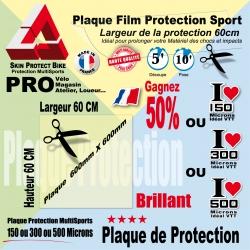 Plaque Film protection 60cm 150µ 300µ ou 500µ microns VTT Universel VTT Moto