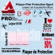 Plaque Film protection 60cm 150 300 ou 500 microns VTT