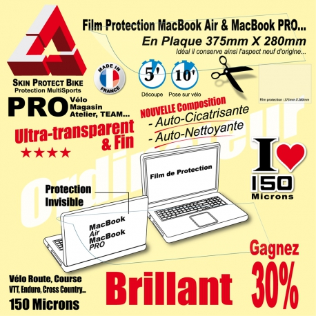 Film Protection MacBook Air et MacBook Pro contre Pare chocs et Impact