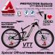 Film PROTECTION Batterie VTT MOUSTACHE Sticker Transparent