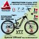 Kit Film Protection cadre MOUSTACHE VTT Complet 2 épaisseurs