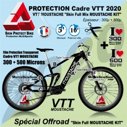 Film Protection VTT MOUSTACHE 2020 Complet 2 épaisseurs cadre VTT