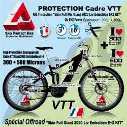 Kit Protection Skin Full Mix Giant 2020 Liv Embolden E+2 KIT Complet 2 épaisseurs