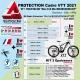 Film Protection VTT MOUSTACHE 2021 Complet 2 épaisseurs cadre VTT
