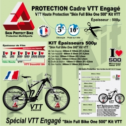 Kit Film Protection cadre VTT Skin Full Bike One 500 KIT VTT
