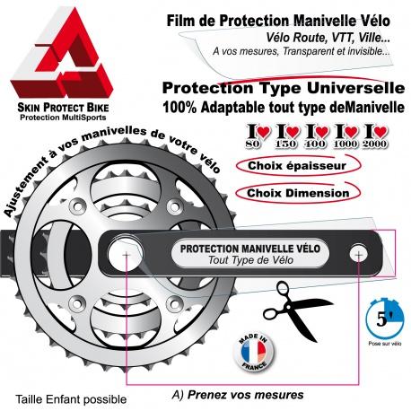 Film de Protection Manivelle Vélo universelle en Bande