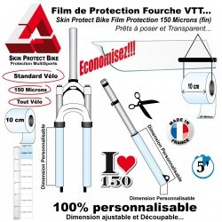 Film de Protection Fourche VTT fin économique en Bande